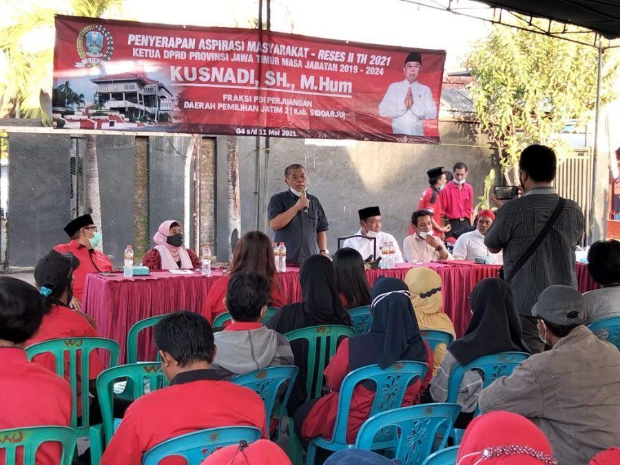 Ketua DPRD Jatim, Kusnadi saat kegiatan Jaring Aspirasi Masyarakat - Reses II Tahun 2021 di Kabupaten Sidoarjo, Jatim | Istimewa