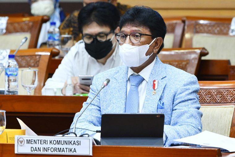 Menkominfo Johnny G. Plate saat Rapat Kerja Kementerian Kominfo bersama Komisi I DPR-RI di Jakarta, Senin (07/06/2021)   Foto: Humas Kominfo