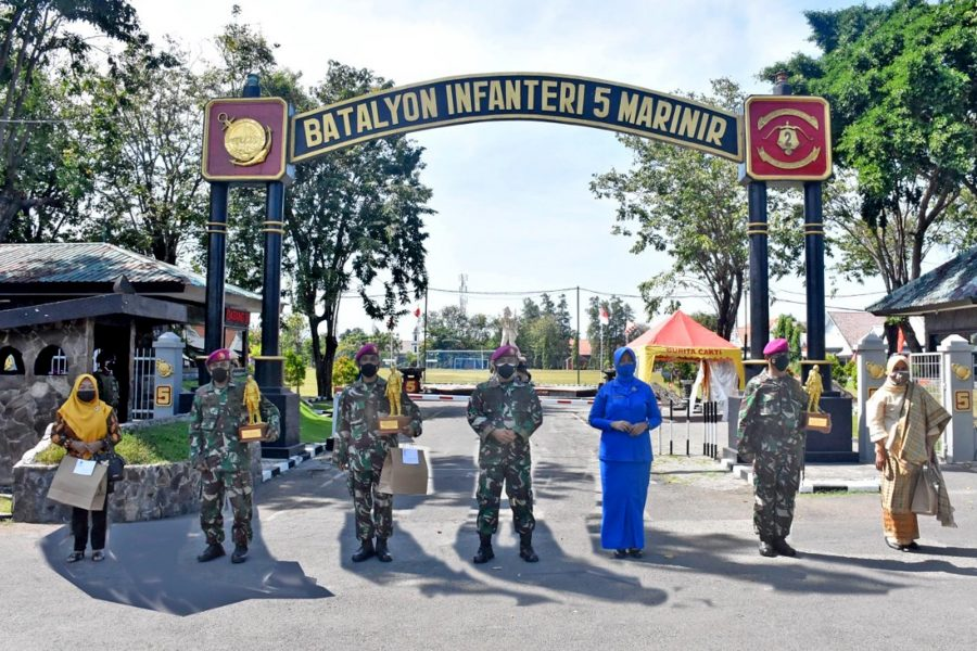 Kegiatan ini berlangsung di Kesatrian Marinir Soeroto II Ujung, Semampir, Surabaya, Jawa Timur, Rabu (14/07/2021) | dok/photo: Dispen Kormar