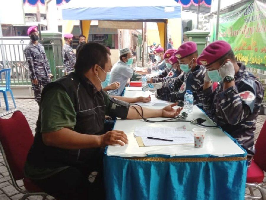 Serbuan Vaksinasi di Desa Pabean, Sedati, Sidoarjo, Jawa Timur | dok/photo: Dispen Kormar