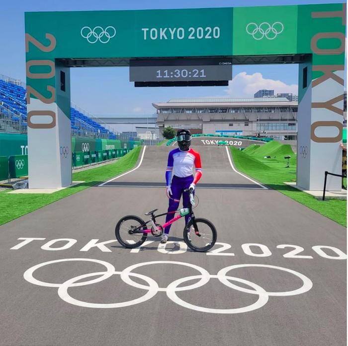 Axelle Etienne, atlet BMX asal Prancis yang berlaga di Olimpiade Tokyo 2020 | dok/photo: Ist /Bicaraindonesia.id