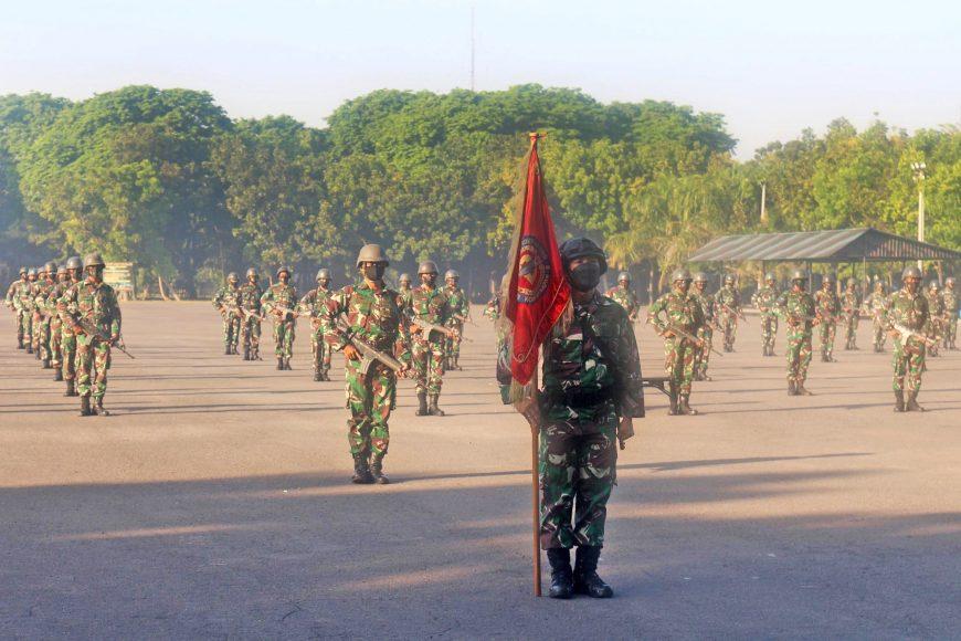 Acara pengukuhan jabatan Komandan Kompi (Danki) B (Barakuda) Yonif 1 Marinir   dok/photo: Dispen Kormar /Bicara Indonesia