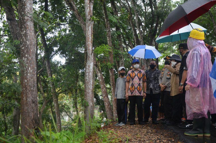 Simulasi mitigasi bencana berlangsung di pesisir pantai Pacitan, Jawa Timur   dok/photo: Humas Kemensos /Bicara Indonesia