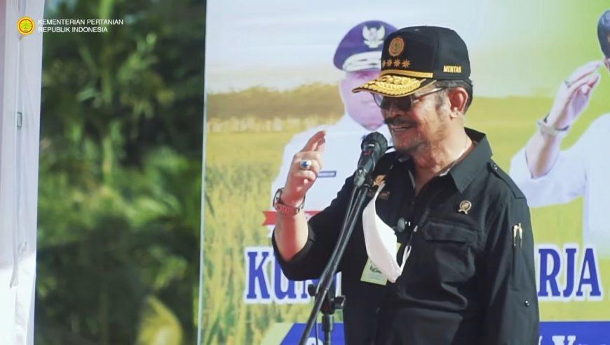 Menteri Pertanian RI, Syahrul Yasin Limpo saat melakukan kunjungan kerja di Kabupaten Sorong, Papua Barat   dok/photo: Ist