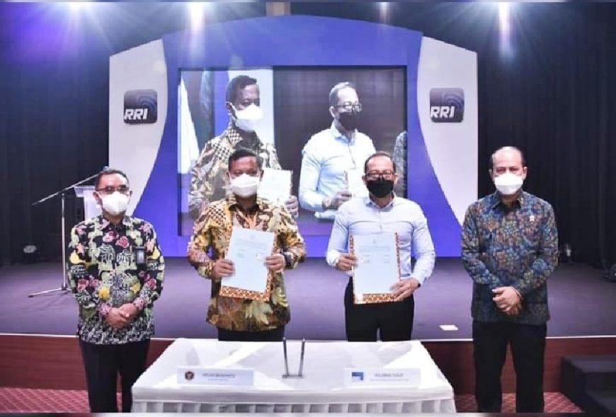 Penandatanganan MoU antara BNPT dan LPP RRI   dok/photo: Humas BNPT