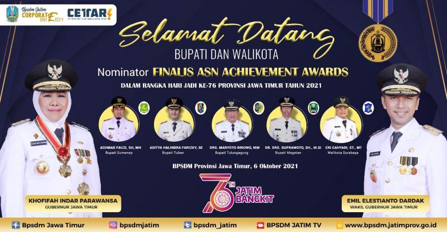 Nominator finalis Aparatur Sipil Negara (ASN) Achievement Awards   dok/photo: BPSDM Jatim