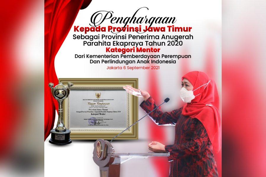 Anugerah Parahita Ekapraya (APE) Tahun 2021 kategori mentor dari Kemen PPPA | dok/photo: Istimewa